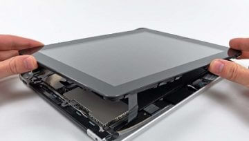 Замена экрана, матрицы, дисплея планшета в Праге