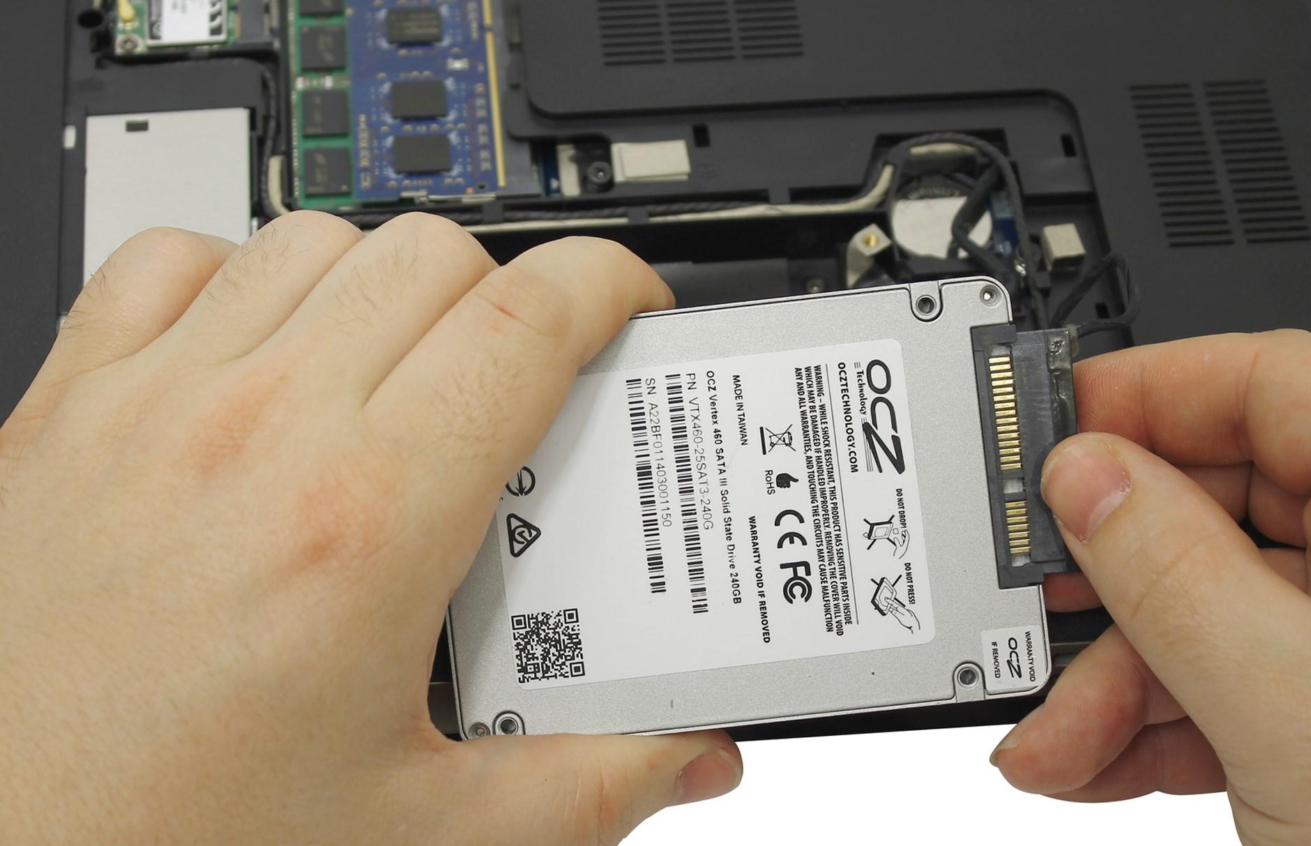 Ремонт и замена жесткого диска ноутбука
